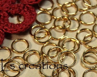 Jumprings 8MM 18GA Gold Plated