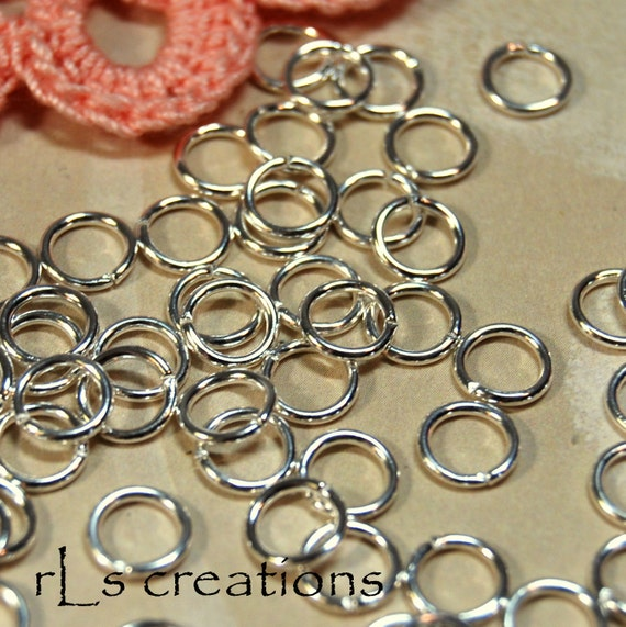 Jumprings 7MM 18GA Silver Plated