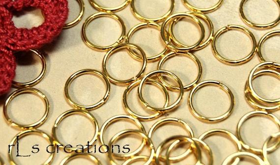 Jump Rings 10MM 18GA Gold Plated
