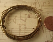 5 Feet Antiqued / Oxidized Pure Brass Wire 20ga Dead Soft -- Made to Order