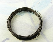 10 Feet Antiqued - Oxidized Pure Brass Wire 24ga Dead Soft -- Made to Order