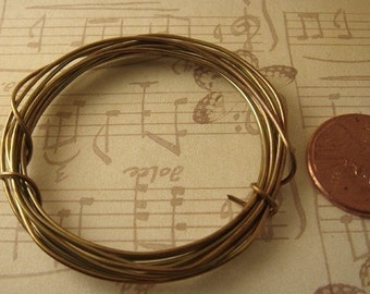 5 Feet Antiqued / Oxidized Pure Brass Wire 20ga Dead Soft