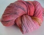 Hand dyed Fingering Weight Wool Yarn 440 yards Firefly OOAK