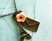 French Petite Eiffel Tower Charm Necklace
