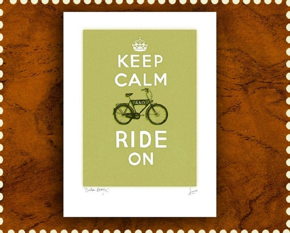 Keep Calm and Ride On- Large print