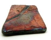 DESTASH Raku Fired Ceramic Cabochon Tile SALE Raku Jewelry Supplies Handmade by MAKUstudio