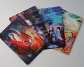 free shipping postcards set - dragon - horse - steampunk