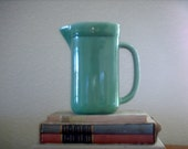 Vintage green square shaped pitcher