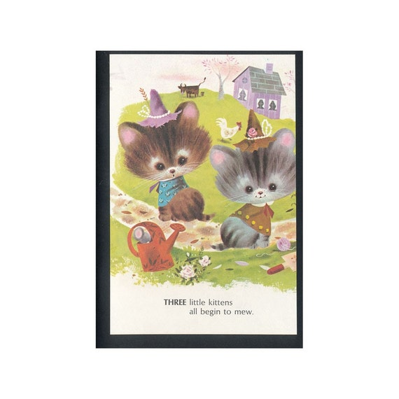Childrens Vintage Illustration Notebook - Kittens