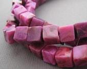 Pink Crazy Laze Agate Cubes 6mm
