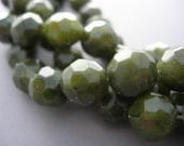 Suyi Jade Faceted 10mm Rounds 16 inches