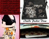 iPad Purse Custom Large Hobo Bag with eReader or iPad Pocket - Fast Shipping - Over 85 fabrics to pick from - Fast Shipping