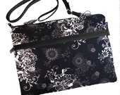 11 inch MacBook Air Sleeve Case / Bag / Shoulder Bag Zipper Padded /FAST SHIPPING/Washable/Black Beauty Fabric