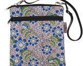 Nook Galaxy Microsoft Tablet Bag iPad Case iPad Sleeve iPad Cover Ipad 4 3 2 1 / Tablet TRAVEL BAG / - Fast Shipping -Blue Fleur Fabric