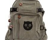 Backpack, Cat Gift Watson the Cat, Canvas Backpack, Rucksack, Travel Backpack, Diaper Bag, Kawaii Backpack, Girls Backpack, Back to School