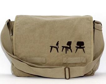 SALE Messenger Bag, Eames Plywood Chairs, Crossbody Large Canvas Bag, Laptop Messenger Bag, Men's Messenger Bag, Women's Messenger Bag