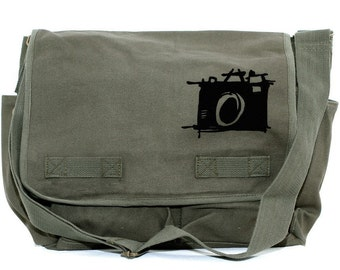 Messenger Bag, Sketch Camera, Crossbody Large Canvas Bag, Laptop Messenger Bag, Men's Messenger Bag, Camera Bag, Women's Messenger Bag