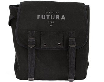 Futura Backpack, Canvas Backpack, Rucksack, Travel Backpack, Festival Backpack, Typography, Men's Backpack, Women's Backpack