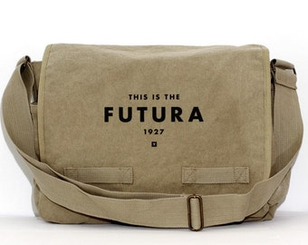 Messenger Bag, Futura Typography, Crossbody Large Canvas Bag, Men Messenger Bags, Women Messenger Bag, Laptop Messenger Bag, Work Bag