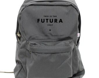 Backpack: Futura, Rucksack, Typography, Nylon School Backpack, Hipster Backpack, College Backpack, Laptop, Mens Backpack, Womens Backpack