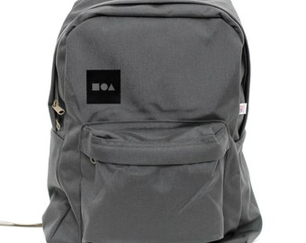 Backpack: Bauhaus Block, Nylon Backpack, Rucksack, Laptop Backpack, College, School, Geometric Shapes, Mens Backpack, Womens Backpack