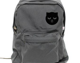 Backpack: Sleepy Watson the Cat, Nylon Backpack, Rucksack, Laptop Backpack, Cute, College, School Backpack, Mens Backpack, Womens Backpack