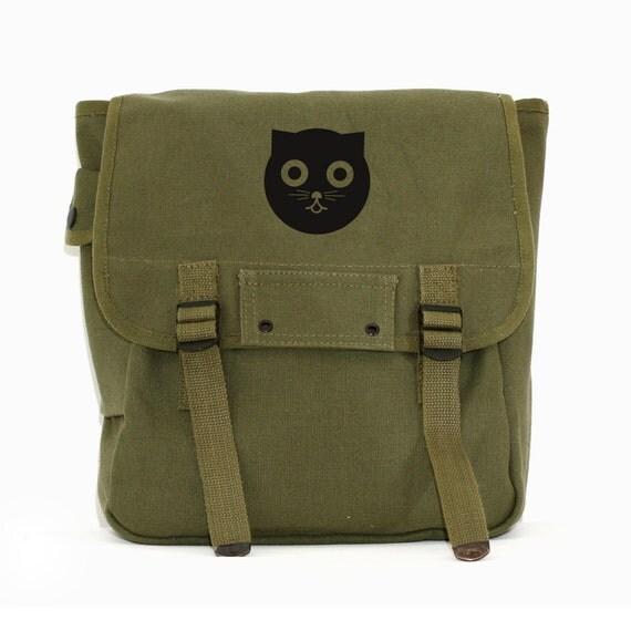 Watson the Cat Backpack, Canvas Backpack, Rucksack, Travel Backpack, Cute Diaper Bag, Men's Backpack, Women's Backpack, Gift for Women