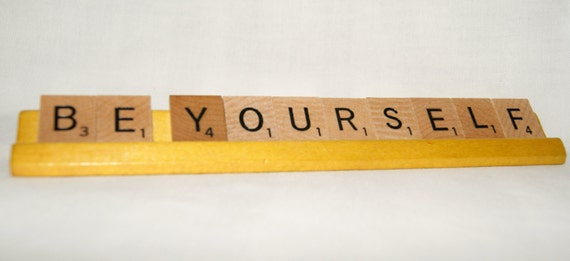 CLEARANCE  Scrabble Tile Sign - Be Yourself