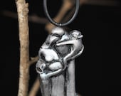 Personalized Sliver Christmas Ornament of an Expecting Family of Four (Silver, EFO4TCgirls S)