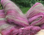 Hand Carded Plant Dyed Elder Berry Juice