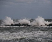 stormy surf