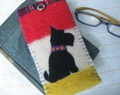 Scotty Dog Eyeglass / Sunglass Case - Vintage Wool