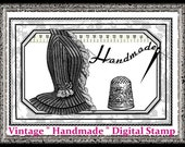 Vintage HANDMADE Digital Stamps for Crafters, Sewers, Knitters U-PRINT Digital Download