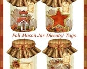 Fall Harvest Mason Jar Tags Thanksgiving Decor INSTANT DOWNLOAD Digital Printable