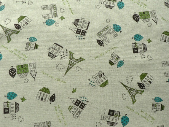 Trefle Paris Japanese Fabric - green