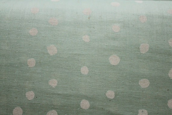 Nani Iro Kokka Pocho Japanese Fabric - white on minty blue