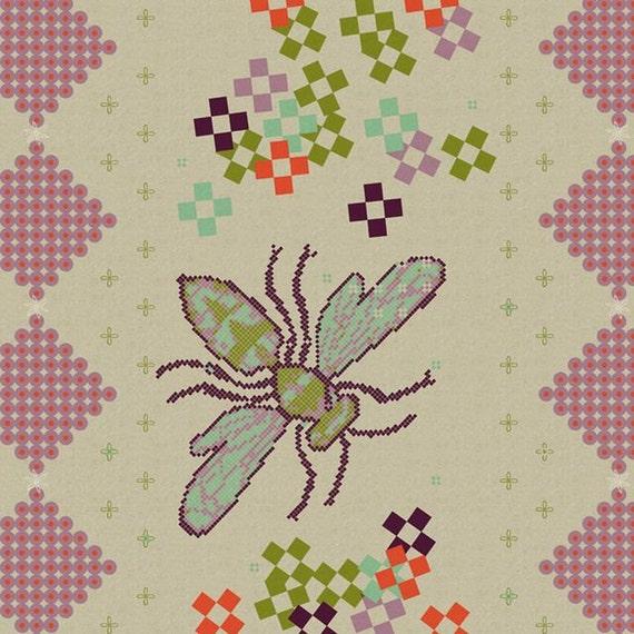Kokka Japanese Fabric Melody Miller Ruby Star Spring - Springtime - 1 yard