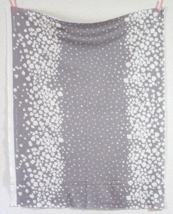 Nani Iro Peaceful Cooing Knit Japanese Fabric - akubi - grey