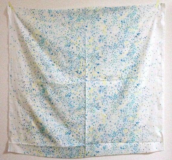 Nani Iro Melody Sketch Double Gauze Japanese Fabric - blue, yellow
