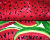 Two Piece Fat Quarter Bundle Quilt Fabric, Red Watermelon Slices, Watermelon Seeds from Timeless Treasures, Sewing, Quilting, Craft Supplies