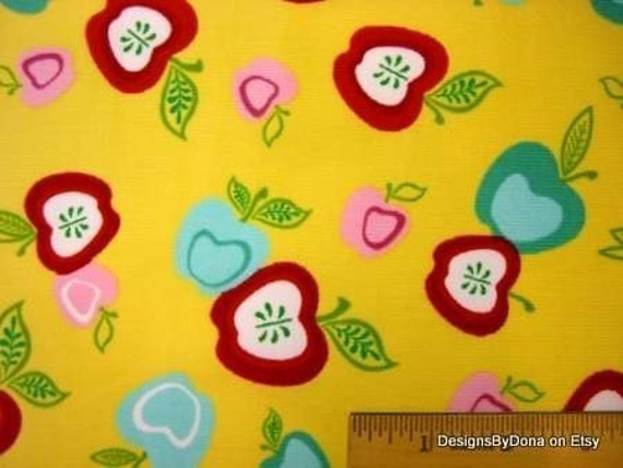 Fabric, Colorful Apples, Cool Cords, Bolt end, SALE