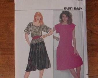 Vintage Butterick Pattern 4442 Misses Size 16, Dress, Skirt, Top, no date, 1970s