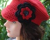hand crochet Newsboy  Hat  ~ newsboy peak cap ~ MADE TO ORDER