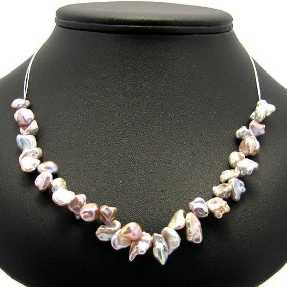 Keshi Pearl Necklace: Pastel Keshi Petal Pearl Necklace