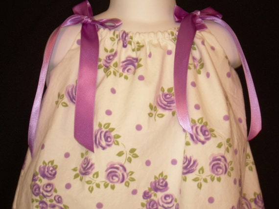New Vintage fabric pillowcase dress for infant size 12-18 months