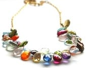 "Multi-gemstone ""Jen"" Necklace with 14k Goldfilled Chain - Signature Design"