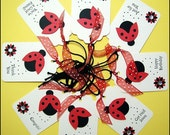 8 ALL OCCASION LADYBUG Tags for Gifts and More