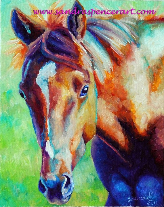 Young Colt Original Painting Horse Art 8x10
