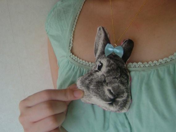 Fluffy Kawaii Bunny Necklace