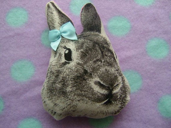 Fluffy Poofy Kawaii Bunny Brooch